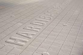 closeup of harbacker tile backer board