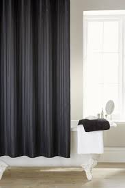 black shower curtains. Satin Stripe Black Shower Curtain (180cms X 180cms) Including 12 Rings Curtains F