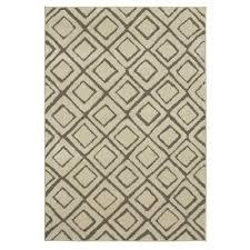 mohawk home squares cream 8 ft x 10 ft area rug