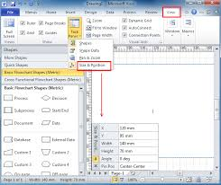Visio 2010 Comparison Chart Where Is The Size And Position Window In Visio 2010 2013