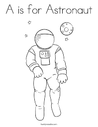 Small Picture A is for Astronaut Coloring Page Twisty Noodle