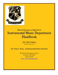 Mcps Grading Chart 2017 2017 18 Richard Montgomery High School Instrumental Music