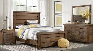 rustic queen bed. Modren Rustic Rustic Haven Tobacco 5 Pc Queen Panel Bedroom  Sets Dark Wood To Bed L
