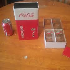 Coca Cola Mini Vending Machine Impressive Find More Coca Cola Mini Vending Machine With Glasses For Sale At Up