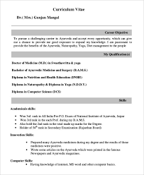 Resume Format For Dentist Freshers Templates Stunning Bds Fresh