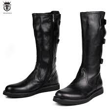 lancelot 2019 mens boots real leather boot zip up men short boots thick heel ankle buckle booties flat heel men s booties