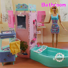 barbie furniture diy. New Arrival Summer Swimming Toys DIY Doll Bathroom Tub For Barbie 1/6 Furniture Diy