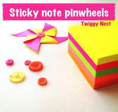 sticky note pinwheels