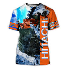Hitachi Excavator Size Chart Hitachi Excavator 3d All Over Printed Clothes Ta0554