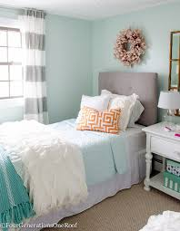 Sophisticated Girls Bedroom Teen Makeover Light green walls Green