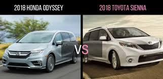 Head To 2018 Honda Odyssey Vs Toyota Sienna  S