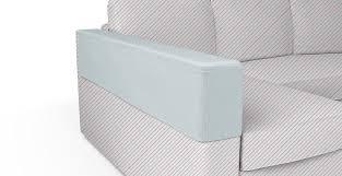 manstad basic fit chaise left armrest cover in herringbone pebble