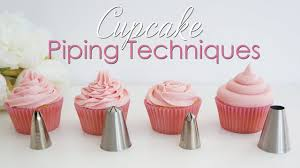 Cupcake Piping Techniques Tutorial Youtube