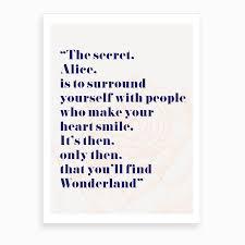 In Quote Wonderland Alice Quote Art Print