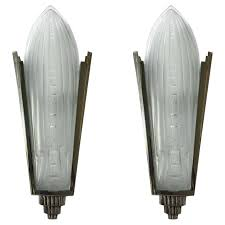 full image for pair art nouveau wall sconce light fixtures deco french sconces signed lighting