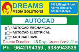 Cad Design Jobs In Hyderabad Autocad Institutes In Ameerpet Autocad Course In Ameerpet