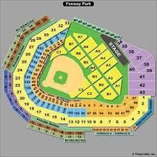 Fenway Park Seating Charts Row E Seat 17 Fenway Park