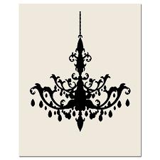 570x570 chandelier 8x10 print modern chandelier silhouette wall