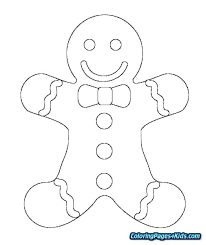 Gingerbread Man Color Pages Boy And Girl Coloring Page Shrek Acnee