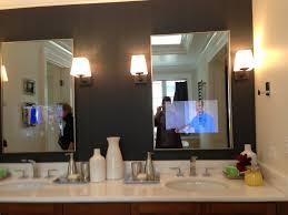dazzling tv in the mirror bathroom mirrors photos with it diy