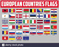 Europe countries national flags. All European flags Stock Vector Image &  Art - Alamy