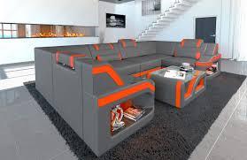 Sofa Dreams Leder Wohnlandschaft Padua U Form Mit Led