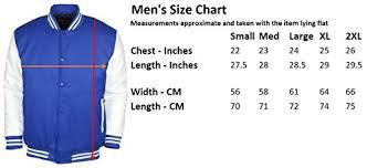 Varsity Jacket Size Chart 9 Crowns Essentials Men S Snap Close Letterman Varsity Jacket