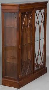 antique style vintage mahogany glass