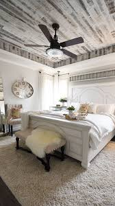 Elegant Modern French Country Style Bedroom With Rustic Barnwood Ceiling