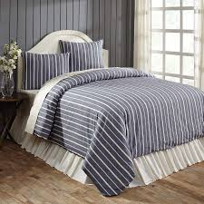collector stripe navy king duvet cover set