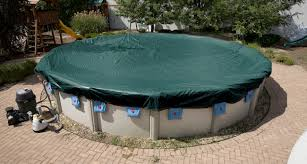 winter pool covers. Brilliant Covers 18u0027 Round Supreme Plus Winter Pool Cover With Binding For Covers L