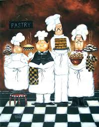 fat chef kitchen decor reserved for balance four tall pastry chefs wall pictures res