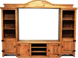 All Wood Entertainment Center Rustic Entertainment Center93