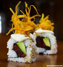 Spicy tuna sushi roll recipe video ...