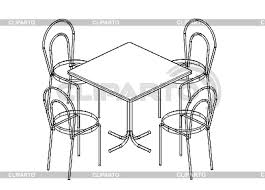 kitchen table clipart black and white. black and white kitchen table clipart l