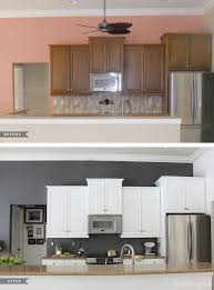 Painting Kitchen Tile Backsplash Fascinating Painted Kitchen Cabinets And Tile Backsplash A Year Later House Mix