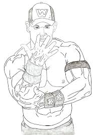 Wwe Coloring Pages John Cena For Free Download Jokingartcom Wwe