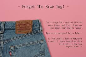 Levi Size 14 Chart Our Vintage Levis 501s Size Guide For Gals Blue Rinse