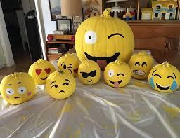 emoji pumpkin decorations
