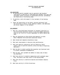Cna Objective Resume Sample Resume For Nursing Assistant Student