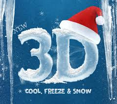 3d ice cool freeze snow text effects