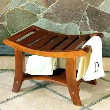 bath bench wood teak shower stools small wooden bath bench