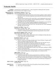 Resume Sample Objectives For Customer Service
