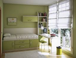 Bedroom: Simple And Neat Pale Green Theme Kids Room Decoration ...