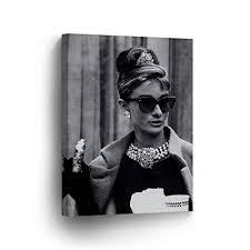 audrey hepburn wall art canvas print famous style breakfast at tiffany s movie black and white iconic on audrey hepburn breakfast at tiffanys wall art with amazon audrey hepburn wall art canvas print famous style
