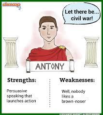 antony in julius caesar character analysis