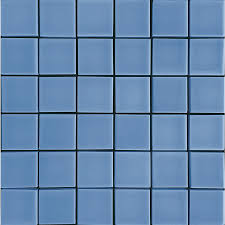 blue tiles. Allen + Roth Blue Uniform Squares Mosaic Ceramic Wall Tile (Common: 12-in Tiles