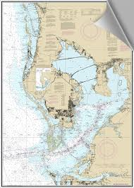 Tide Chart Tampa Bay Fl Bluewater Books Charts Decorative Nautical Chart Tampa
