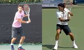 Choosing the right forehand grip can make a significant difference to your tennis game. Mirror Images Part 2 The Backhands Of Federer And Dimitrov Tactical Tennis