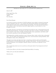 Best Solutions Of Sample Cover Letter For Psychologist Job For Your